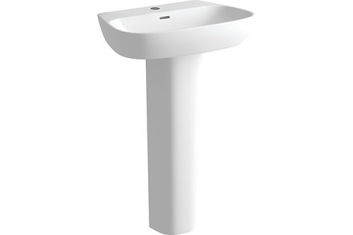 AMYRIS 600X400MM 1TH BASIN & FULL PEDESTAL