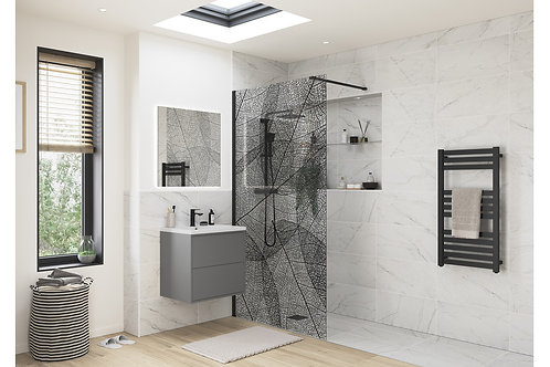 1200MM LEAF PRINT WETROOM PANEL