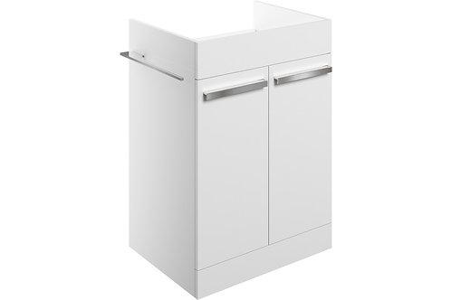 MORINA FLOOR V/UNIT 2DRS 600-WHITE GLOSS