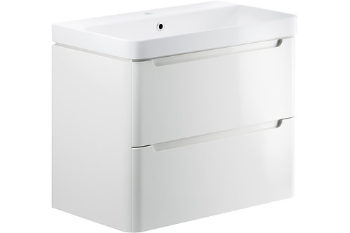 LAMBRA 800 2DRW W/H UNIT & BASIN WHITE