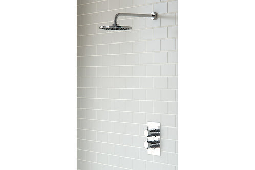 ROUND SHOWER PACK 3 - CIRCA TWIN SINGLE OUTLET & OVERHEAD SHOWER