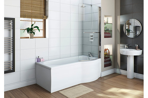 WHITE FLAT 750MM SHOWER BATH END PANEL