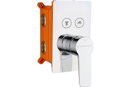 AURA THERMOSTATIC PUSH BUTTON SHOWER VALVE - TWO OUTLET