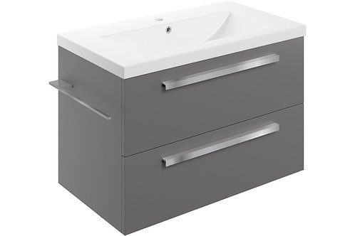 MORINA 815 WALL V/UNIT 2DRW & BASIN -MATT URBAN GREY
