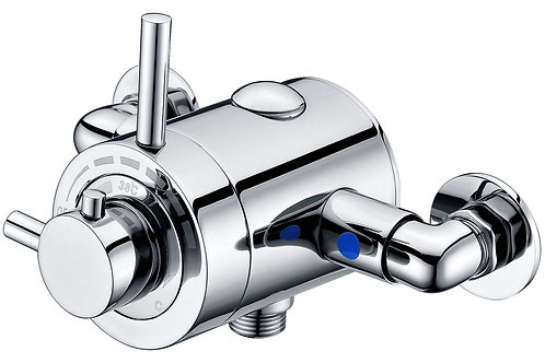 MODERN EXPOSED THERMOSTATIC SHOWER VALVE - SINGLE OUTLET