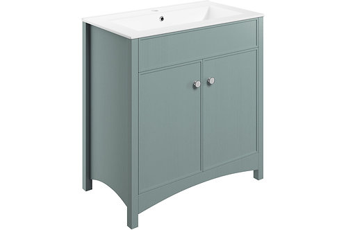 LUCIA 810MM F/S VANITY&BASIN - SEA GREEN