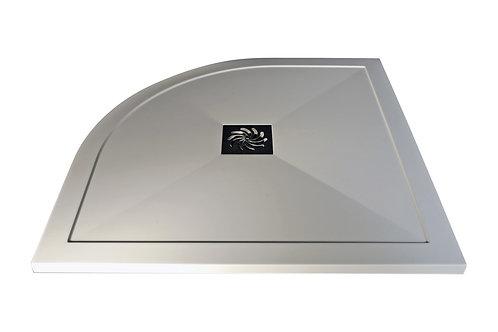 REFLEXION 25MM ULTRASLIM 1200MMx800MM OFFSET QUADRANT TRAY & WASTE - RIGHT HAND