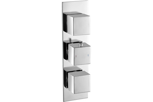 RHOMBA SLIM PLATE CONCEALED TWIN OUTLET