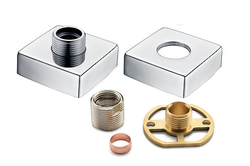 SQUARE EXPOSED SHOWER VALVE FAST FITTING KIT (PAIR)