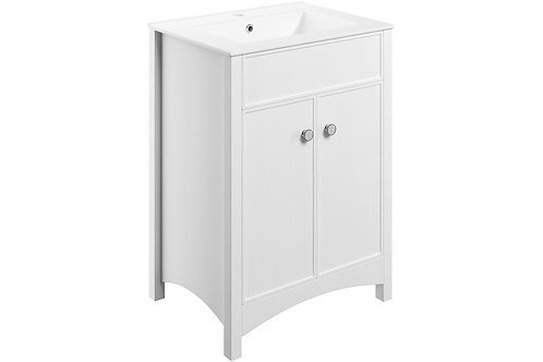 LUCIA 600MM F/S VANITY UNIT  - SATIN WH