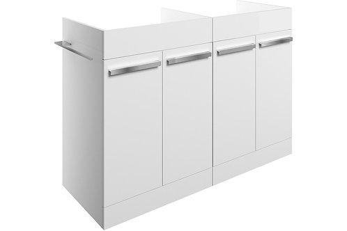MORINA 1200 FLOOR V/UNIT 4DRS-WHITE GLOSS