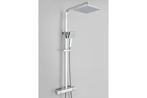 QUADRO COOL-TOUCH THERMOSTATIC MIXER SHOWER WITH OVERHEAD - SQUARE