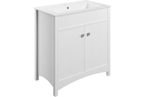 LUCIA 810MM F/S VANITY&BASIN - SATIN WH