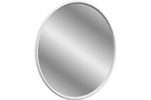 LUCIA 550X550MM ROUND MIRROR - SATIN WH