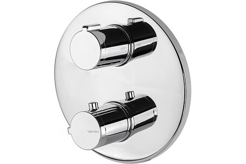 VEMA BUILT-IN THERM VALVE TWO OUT CHROME
