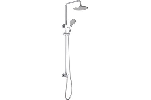 ROUND SHOWER KIT OVERHEAD AND HANDSET - CHROME