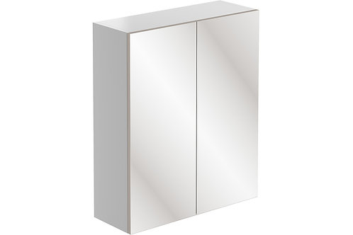 VALESSO 600 2DR MIRROR WALL UNIT WHI GLO