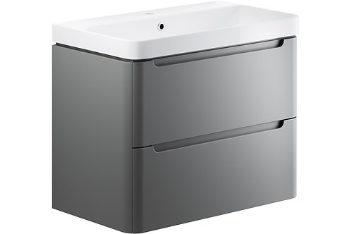 LAMBRA 800 2DRW W/H UNIT & BASIN GREY