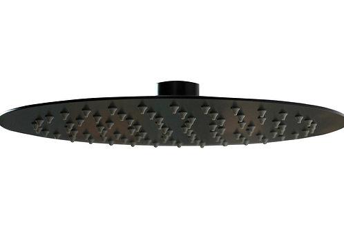 VEMA U/SLIM RND SHW HEAD 250 MATT BLACK