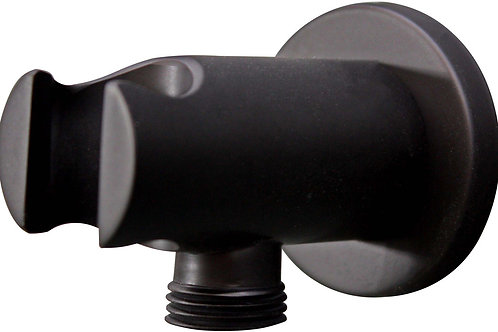 WALL UNION AND SHOWER HOLDER MATT BLACK