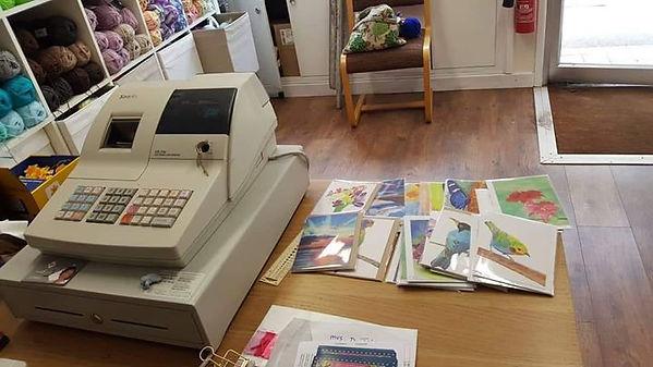 I am selling my card designs at Yarn & G