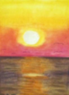 Formby Beach at Sunset, Pastel. Thank yo
