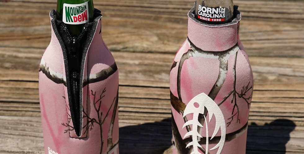 CAO Bottle Koozie Realtree Pink