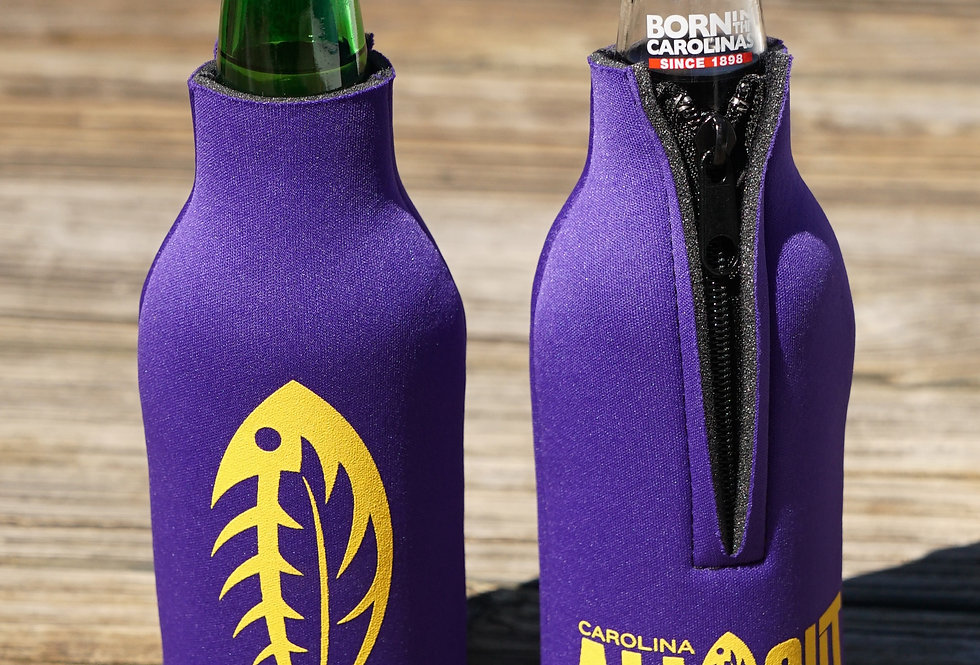 CAO Bottle Koozie Purple/Gold
