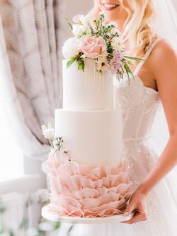 Bourton Hall Pink wedding cake