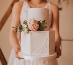 Concrete Effect Geometric cake