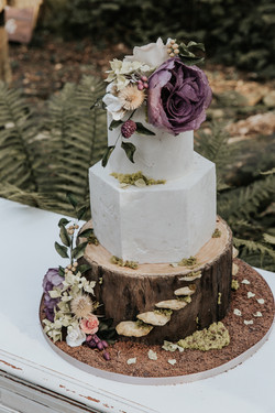 Whimsical Woodland wedding cake