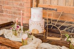 Golden Sun Wedding Cake