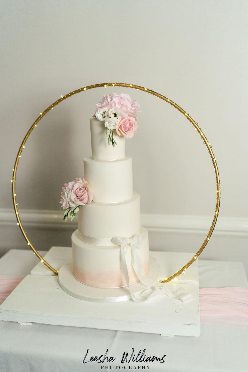 Pink Iced Wedding cake