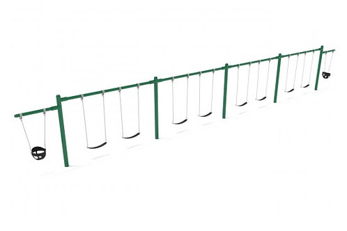 7/8 Feet High Elite Cantilever Swing - 4 Bay 2 Cantilevers