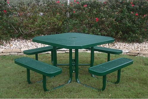 Octagon Portable Picnic Table with Diamond Pattern
