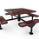 Thumbnail: Square Nexus Pedestal Table with Diamond Pattern