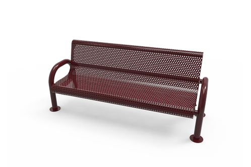 Perforated Steel MOD Bench with Back