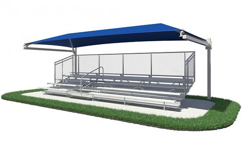 Bleacher Series Hanging Cantilever Fabric Shade