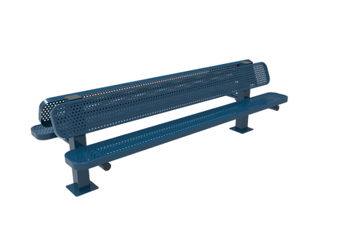 Perforated Steel Double Pedestal Bench