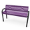 Thumbnail: Slatted Steel MOD Bench with Back