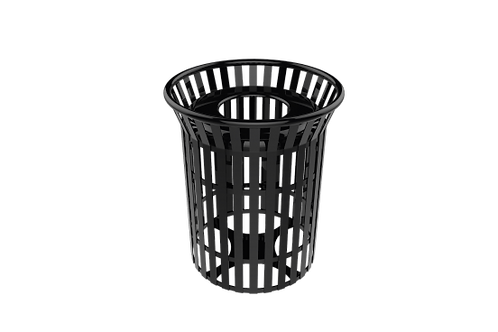 32 Gallon Skyline Trash Receptacle with Flared Top and Liner
