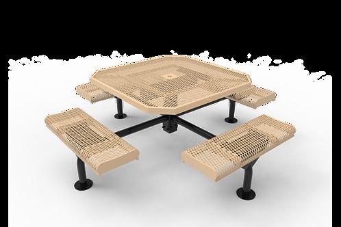 Octagon Rolled Nexus Pedestal Table with Diamond Pattern