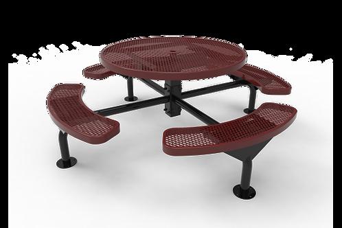 Round Nexus Pedestal Table with Diamond Pattern