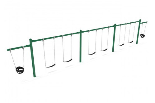 7/8 feet high Elite Cantilever Swing - 3 Bays 2 Cantilevers