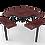 Thumbnail: Octagon Rolled Nexus Pedestal Table with Diamond Pattern