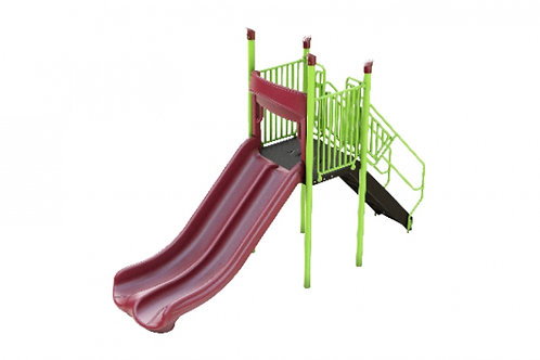 Freestanding Double Straight Slide