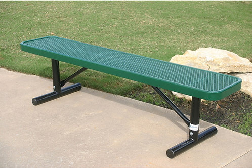 Perforated Steel Wide Seat Player's Bench without Back
