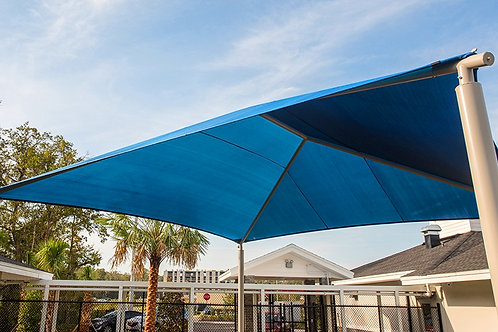 Square Hip End Shade Structure
