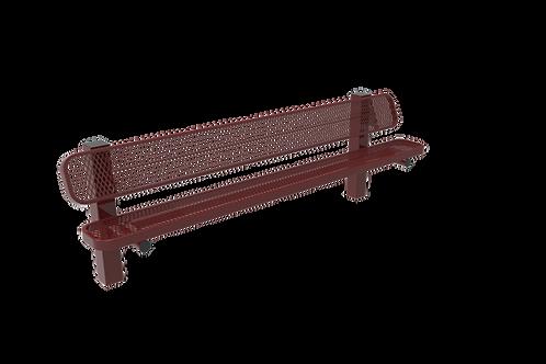 Diamond Pattern Single Pedestal Bench
