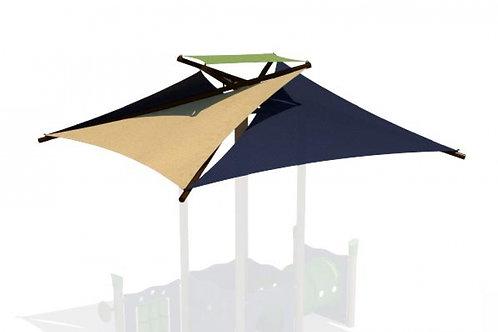 Square Pinwheel Modular Playground Shade